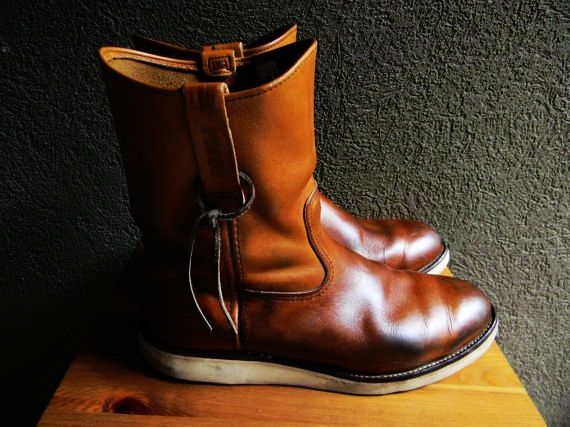 Vintage Red Wing Crepe Sole Pecos Riding Work Motorcycle Boot Size 11.5 Made in USA