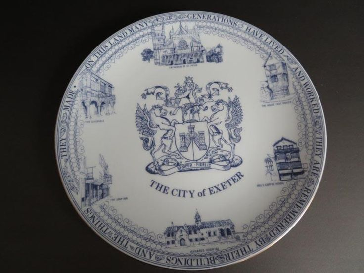 """""""The City of Exeter"""" commemorative fine bone china plate"""