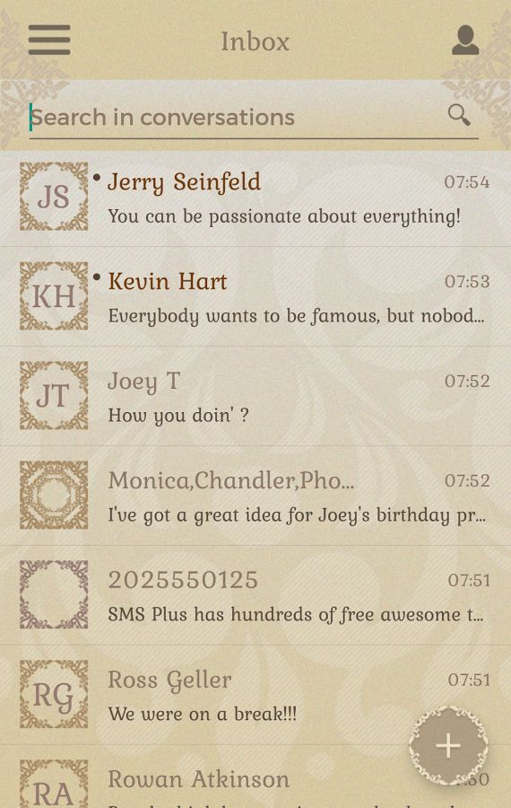 Sense Theme SMS Plus- screenshot