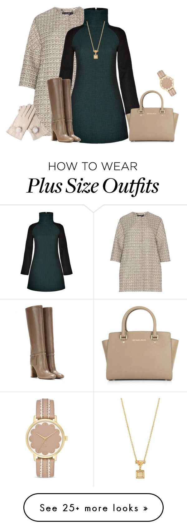 """outfit 3466"" by natalyag on Polyvore featuring navabi, AV by Adriana Voloshchuk, Tory Burch, Michael Kors, Kate Spade and Marc by Marc Jacobs"