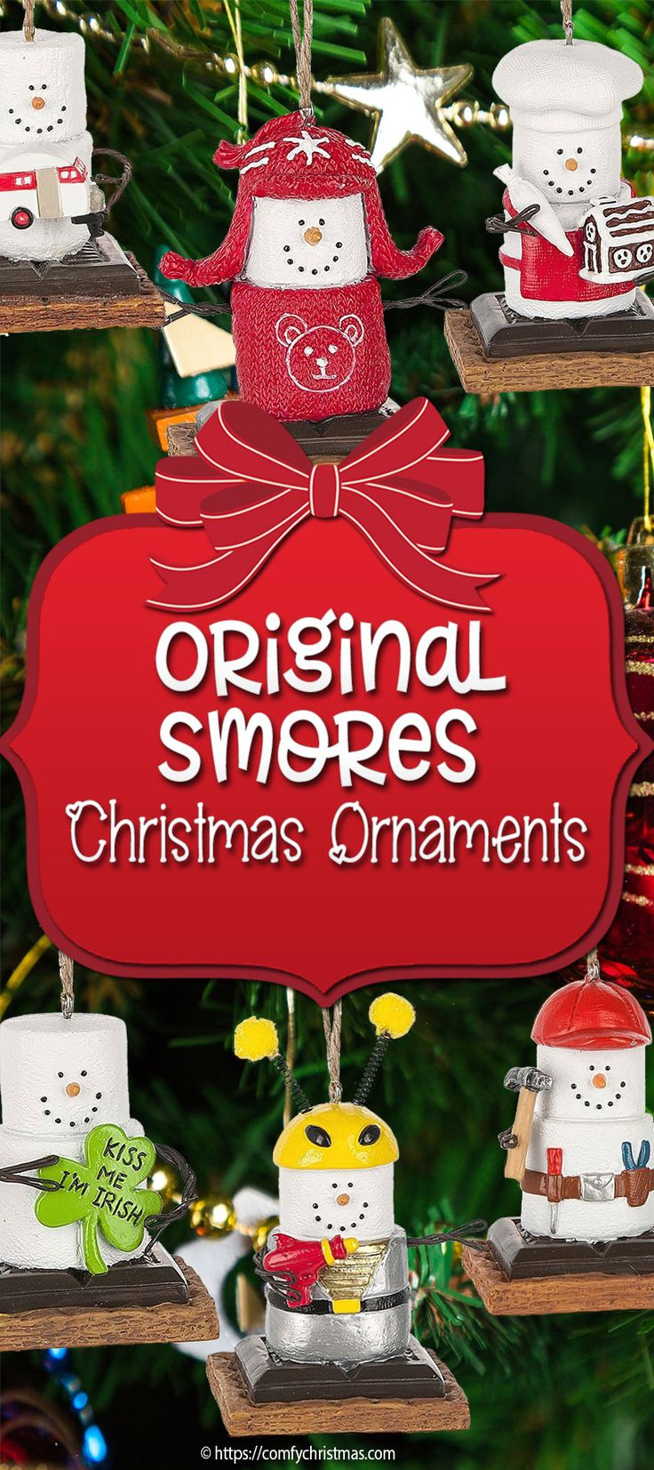 The Original Smores Ornaments for Christmas are super cute unique ornaments that are sure to bring a smile to your face!Be sure to check out all the adorable smore Christmas ornaments!
