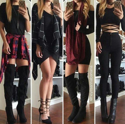 Imagem de fashion, outfit, and black