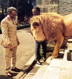 Hail up the Conquering Lion:  Haile Selassie.  This is a great photo.