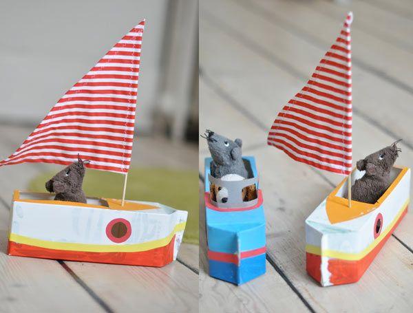 Les 25 meilleures id es de la cat gorie bateaux en papier for Dans un petit bateau