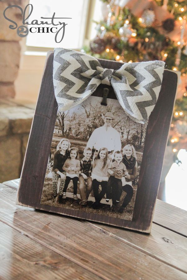 DIY Bow Picture Frame