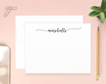 Personalized Thank You Cards, Personalized Notecards, Custom Note Cards, Personalized Correspondence Cards, Personalized Stationery Set