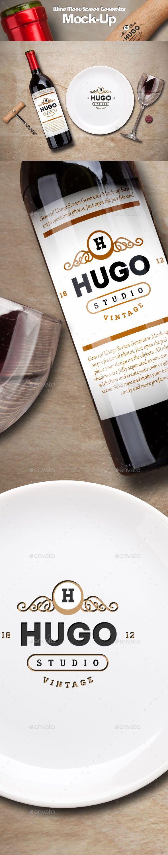 Wine Service Menu Creator MockUp — Photoshop PSD #editable #mockup • Available here → https://graphicriver.net/item/wine-service-menu-creator-mockup/12186899?ref=pxcr