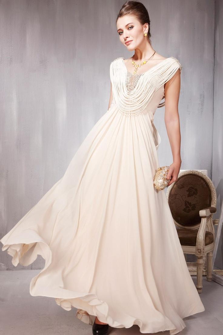 Tassel V-neck Line Fashion Ball Dress