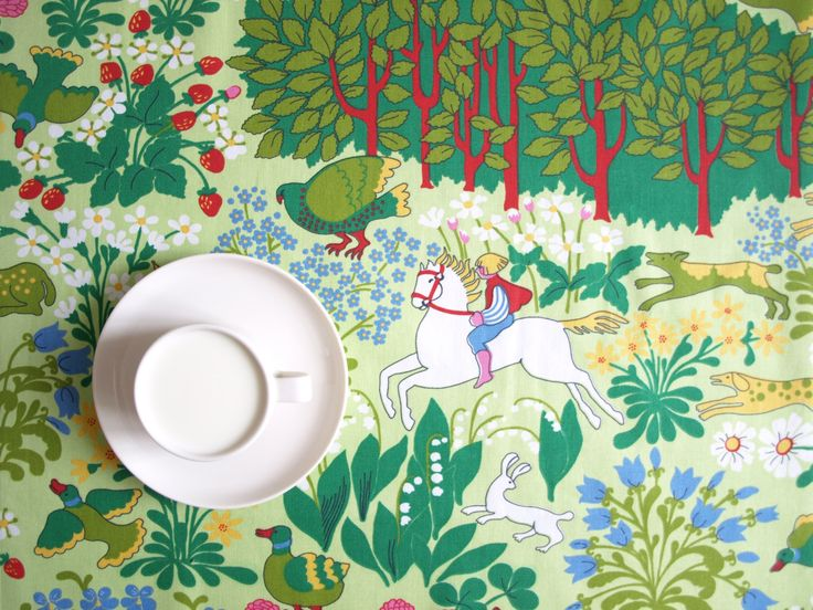 Tablecloth Green Nature Forest Fairy Tale Scandinavian Modern Decor Table  Runner Napkins Pillow Curtain Available Great