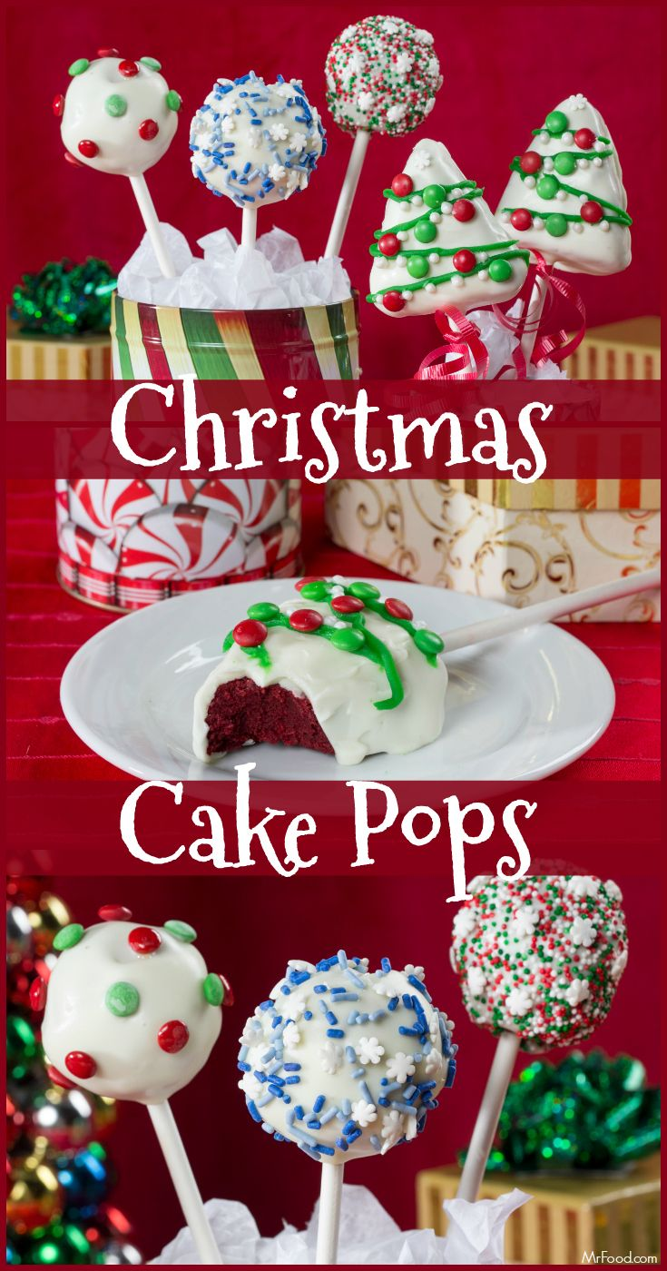These Christmas Cake Pops are such a fun treat to make with the family!