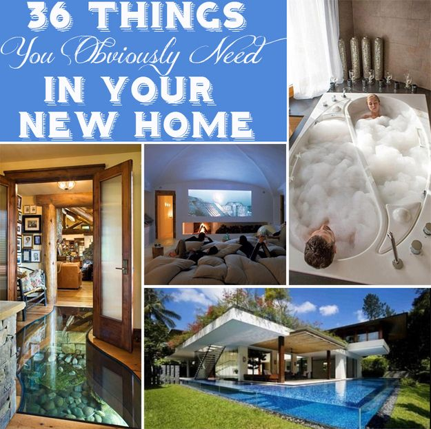 36 Things You Obviously Need In Your New Home | 36 Things You Obviously Need In Your New Home.  Which is your favorite? A bone-shaped pool for your dog? A waterfall in your bath tub? A staircase that wraps around an aquarium? Or perhaps one of these other very inventive pieces of coolness?