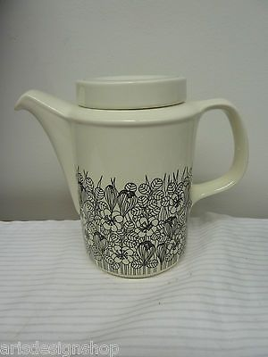 Arabia Iittala Finland Krokus Coffee Teapot Black White Design Esteri Tomula   eBay
