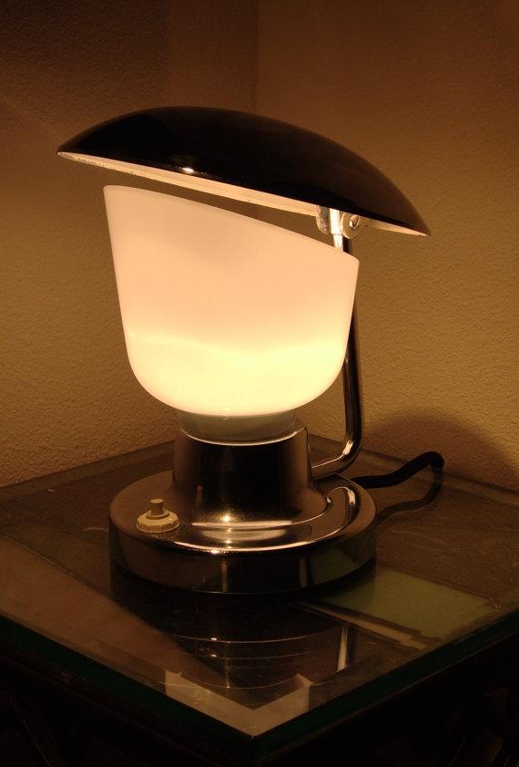 Napako 1195 - Modernist Deco Table Lamp, $495