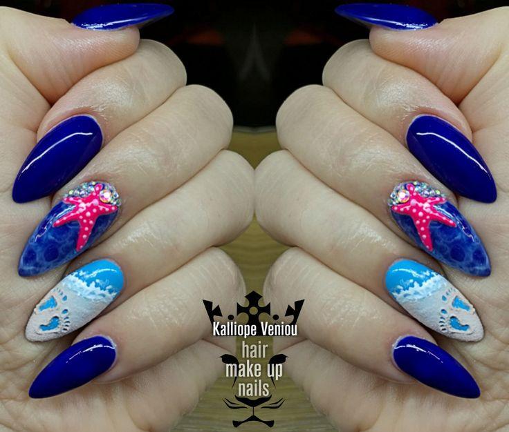 Summer nails  Εκεί που σκάει το κύμα......αφήνουμε απαλά τα ίχνη μας......  #nails #nailart #summernails #love #fotooftheday #nailprodigy #nailaholic #nailsalon #nail2inspire #beauty #special #fashion #fashionista #trusttheexperts #beautymakesyouhappy  www.kalliopeveniou. gr