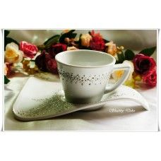 "Set cana si farfurie cappuccino - ""Magic - gift set"""