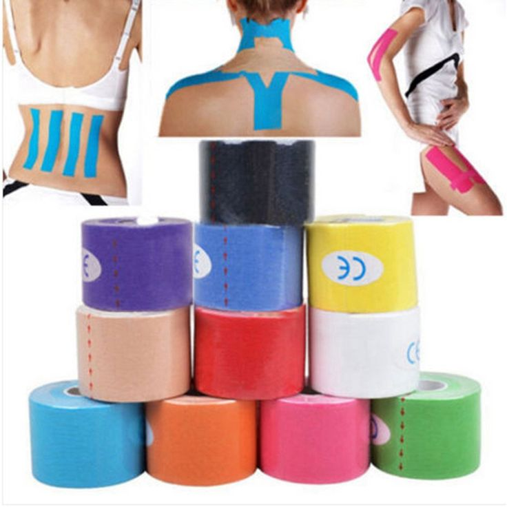 5M*5CM Adhesive Cotton Blend Sport Tape Roll Elastic Bandage Kinesiology Muscle Strain Injury Support Physio Care Strap Sticker
