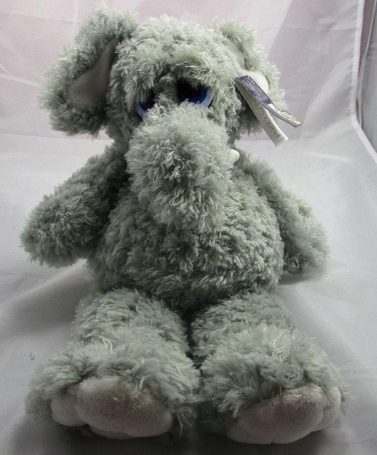 Kelly Toys Plush Baby Elephant Grey with White Inside Ears VGC 14 5 034 Tall | eBay