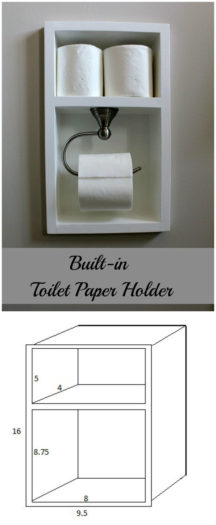The 25 Best Recessed Toilet Paper Holder Ideas On Pinterest Toilet Roll Holder With Storage
