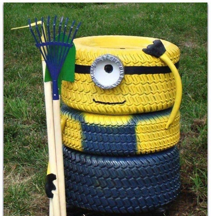 www.alberlet.hu A Minyon – őrület fokozódik! Ne dobd el használt autógumijaidat, inkább készíts belőle Minyon figurát a kertbe! Nem kell hozzá más, mint sárga-kék festék és egy kis kézügyesség.