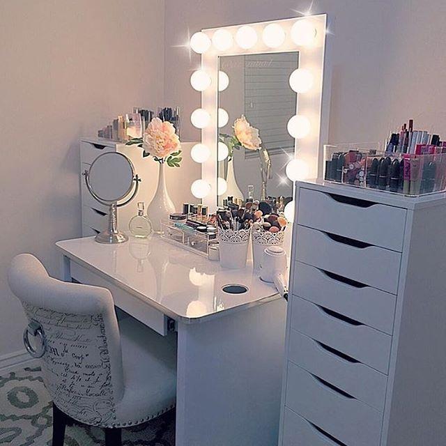 resultado de imagem para trang tri ban trang diem - Makeup Eitelkeit Beleuchtung Ikea