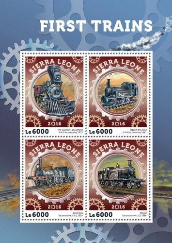 SRL16403a First trains (The Countess of Dufferin 4-4-0 locomotive, 1872; Rocket of China 2-4-0 locomotive, 1881; Baroneza locomotive 2-2-2, 1854; Mogul locomotive 4-2-2, 1886)