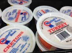 Mailhot's of Lewiston, Maine, makes both pork and turkey cretons.