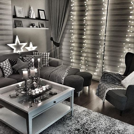 black and gray living room decorating ideas small with dining table grey inspirations homedecor designlovers decor pinterest