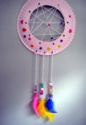 DIY Dream Catcher...fun and easy to make with the kids! .... Try with Popsicle sticks in middle for younger crowd...