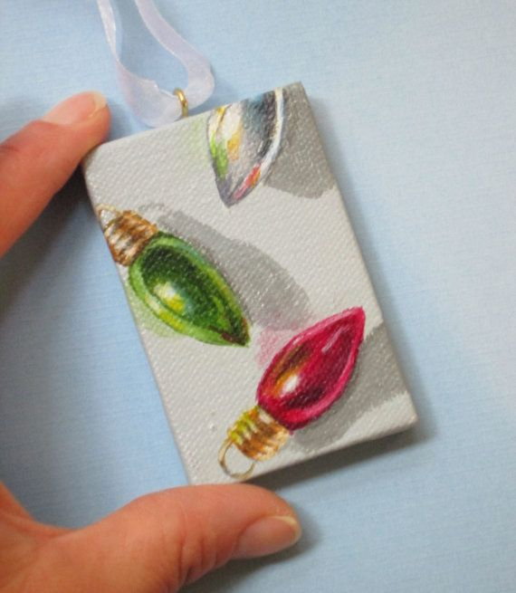 Mini Painting  Custom Small Painted Christmas by ShirleyArt