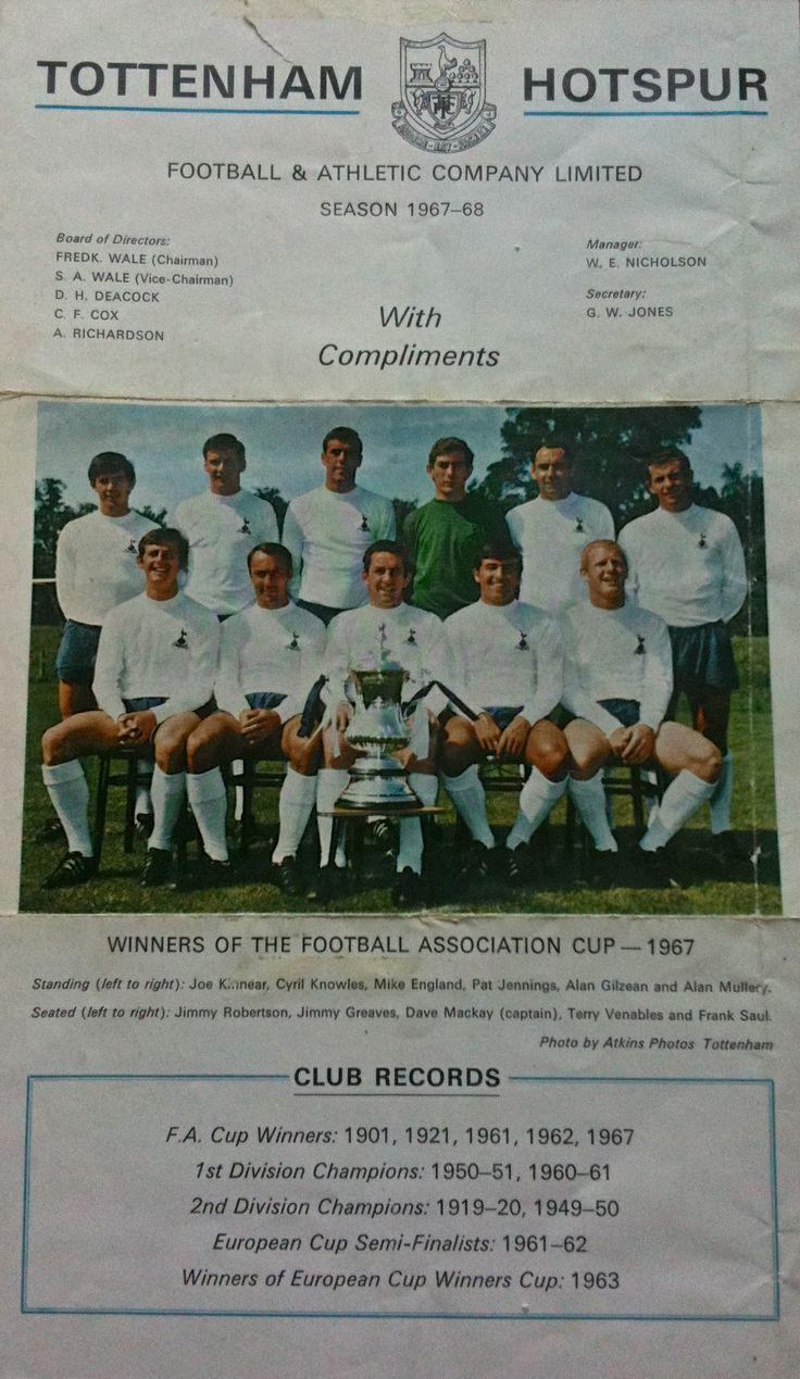 Tottenham Hotspur, 1967.