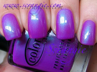 Color Club nail polish in Ultra Violet. I'm not getting my minimum RDA of purple; maybe I need some nail polish.