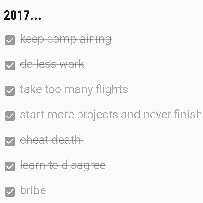 achievement before  appeasement. . . #winner #newyeargoals #2017 #achievement #todo #list #alldone #bringiton2018 #neversayno #challengeaccepted #victoryismine #undefeated #asperrecord #resolutions #unlocked #diy #list #whatnow?