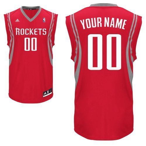 Customized Red Adidas Swingman Houston Rockets Perfect Stitched Men Road  NBA Jerseys