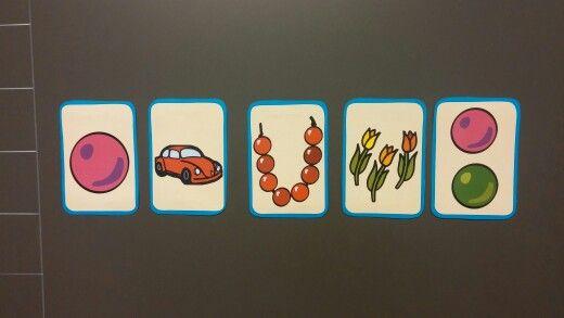 Kuvien järjestyksen muistaminen, lukumäärä mukana.