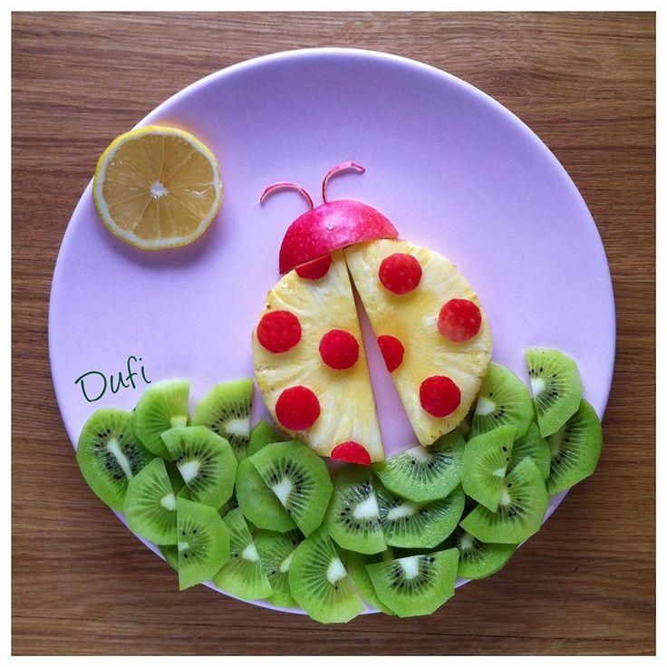 Pineapple, Apple, Raspberry Ladybug
