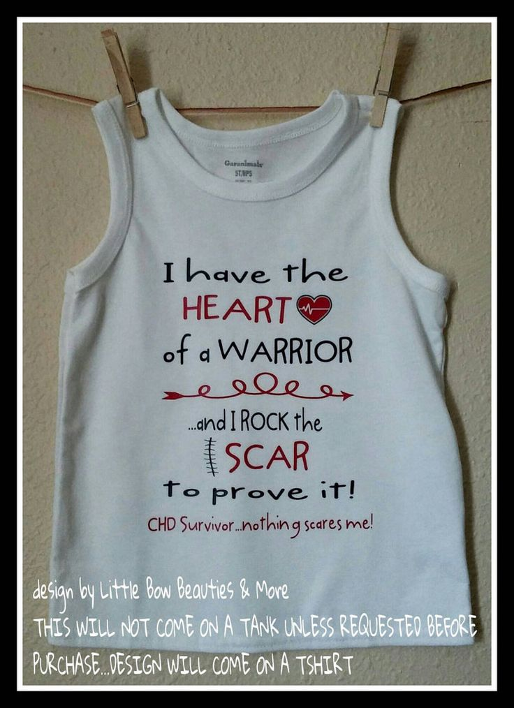CHD Awareness Tshirt/Onesie I have the Heart by LittleBowBeauties