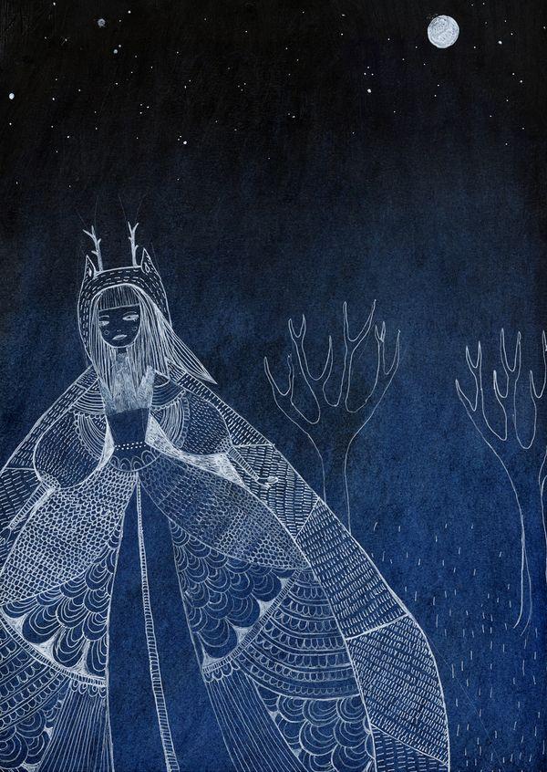 Grimm's Fairy Tales by Sigrid Rødli, via Behance