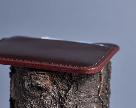 Leather mini wallet. Leather credit card holder. by InnesBags