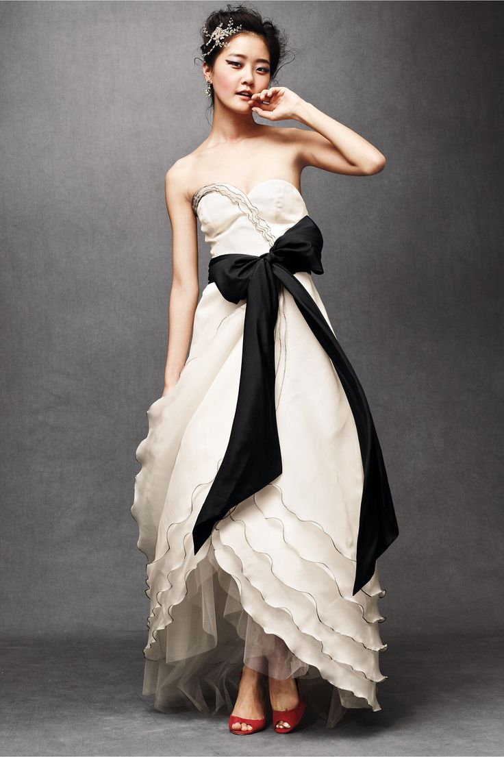 Black dress yellow sash - Tiered Tulip Gown In Shop The Bride Wedding Dresses At Bhldn