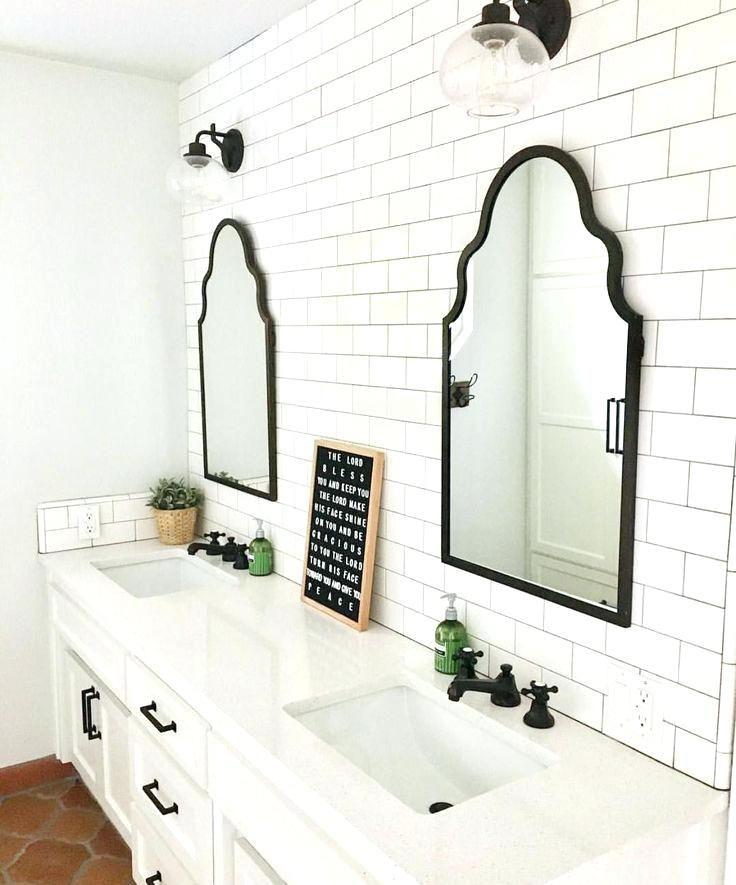 Master Bathroom Oval Vanity Mirror Google Search Farmhouse Master Bathroom Master Bathroom Decor White Vanity Bathroom