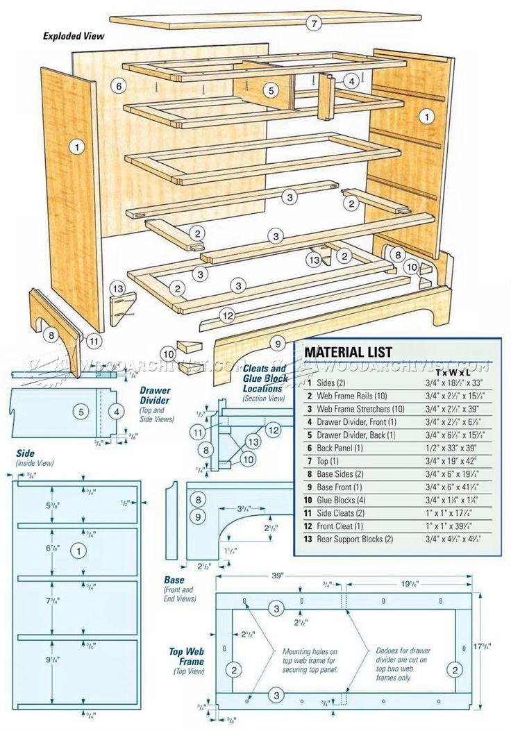 shaker dresser plans furniture plans