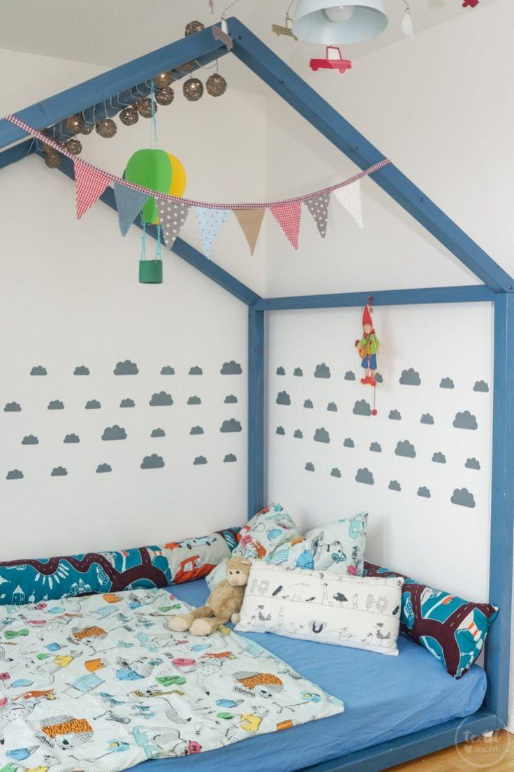 Kinderbett selber bauen: XXL-Hausbett Bauanleitung #familienzimmer