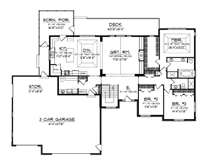 17 best images about house plans on pinterest garage for Craftsman floor plans with basement