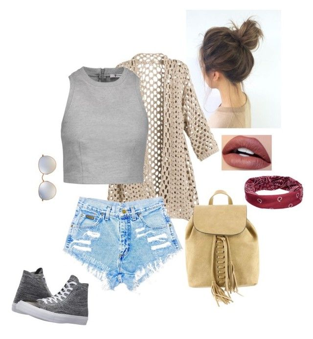 Casual Chic by swheeler1224 on Polyvore featuring polyvore fashion style T By Alexander Wang Converse Mellow World Mudd Ray-Ban clothing