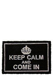 KEEP CALM 40X60CM COIR DOOR MAT