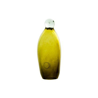 Figurka Pingwin szklany 20, olive