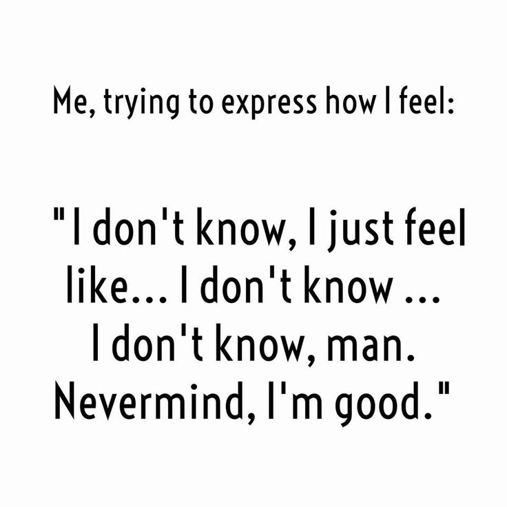 INFJs, trying to express their feelings.