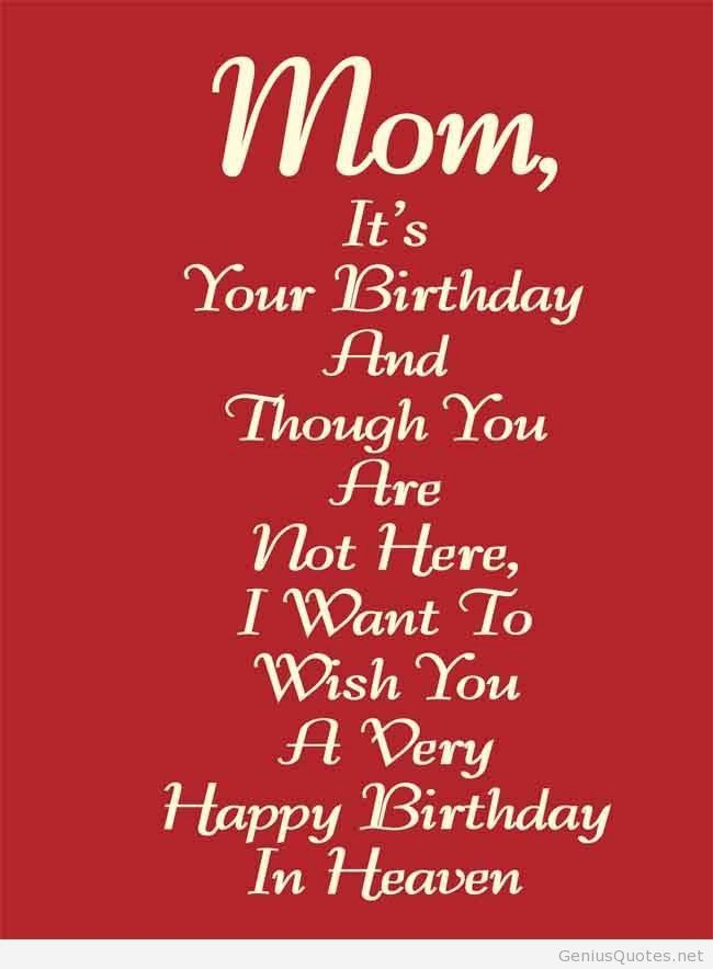 Happy Birthday To My Mom In Heaven Quotes Awesome Happy Birthday