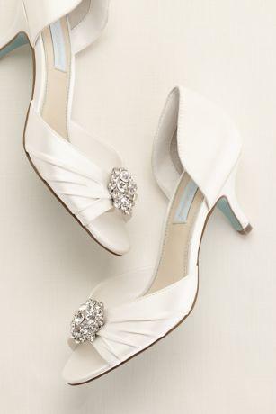 Blue By Betsey Johnson Low Heel P Toe Sandal Style Sbstun Wedding Dance Floorswedding Heelsbride