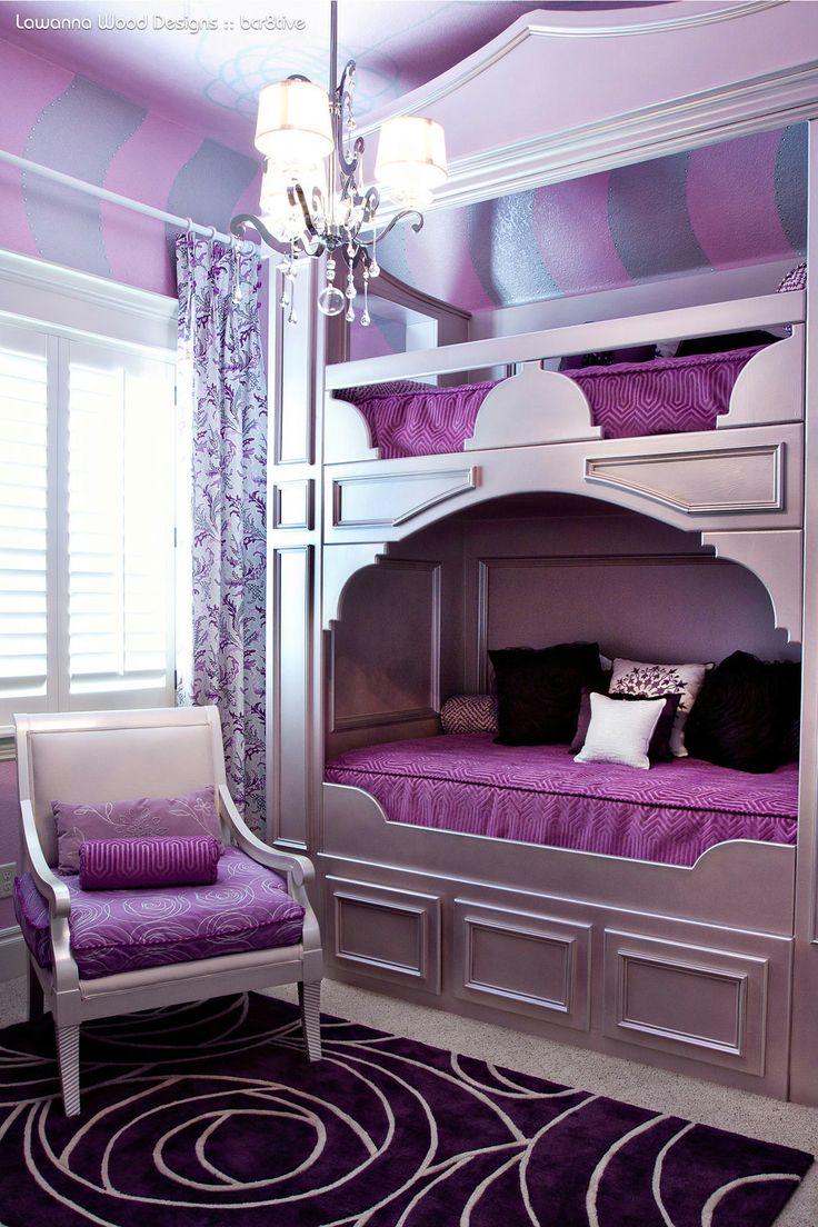 LaWanna Wood Designs - Purple bunk beds